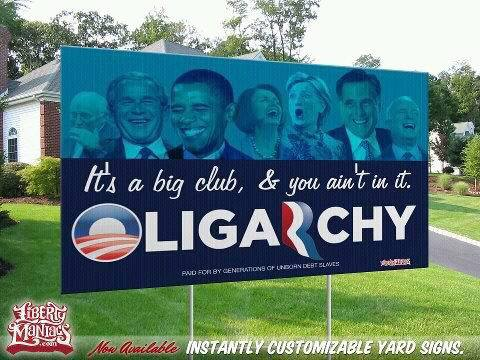 It's a big club and you ain't in it Oligarchy