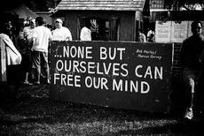 None but ourselves can free our mind