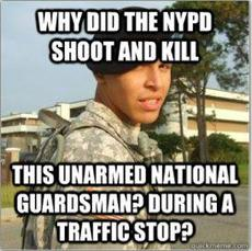 why did the nypd shoot and kill this unarmed national guardsman