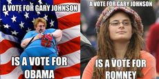 A vote for gary johnson