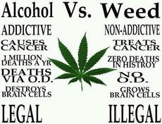 alcohol vs weed