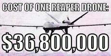 cost of one reaper drone