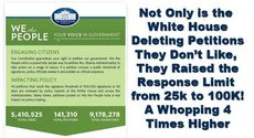 the white house deletes petitions