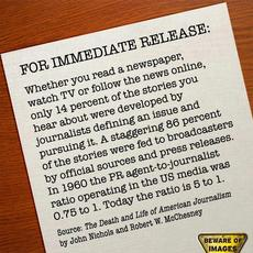 86 percent of stories are from press releases