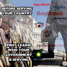 Before serving your country first learn who your government serves