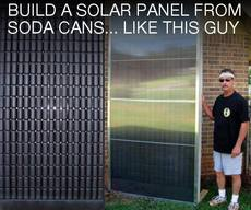 build a solar panel from soda cans