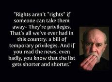 Rights aren't rights if someone can take them away