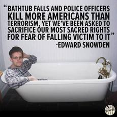 Edward Snowden bathtub fall quote