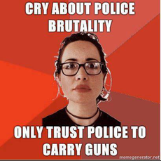 Cry about police brutality