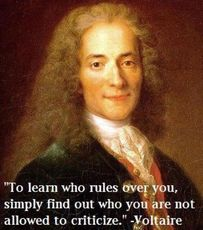 Voltaire To learn who rules over you