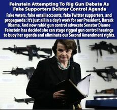 Feinstein attempting to rig gun debate as fake supporters bolster control agenda