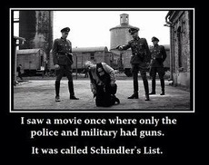 I saw a movie once where only the police and military had guns