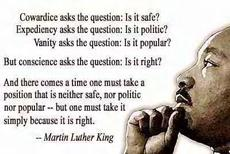 Martin Luther King Cowardice asks the question