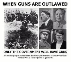When guns are outlawed only the government will have guns
