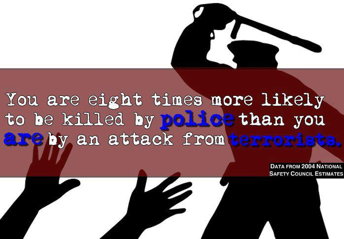 You are eight times more likely to be killed by police than a terrorist