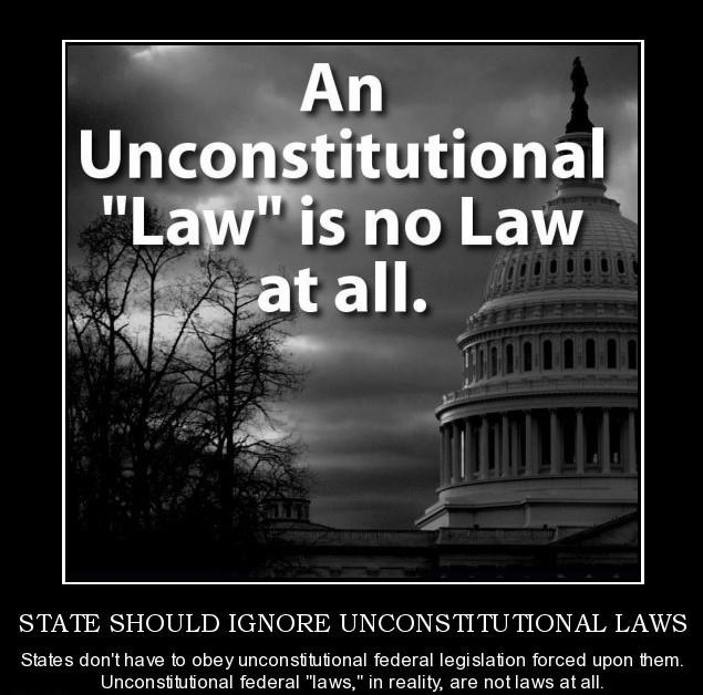 An unconstitutional law is no law at all