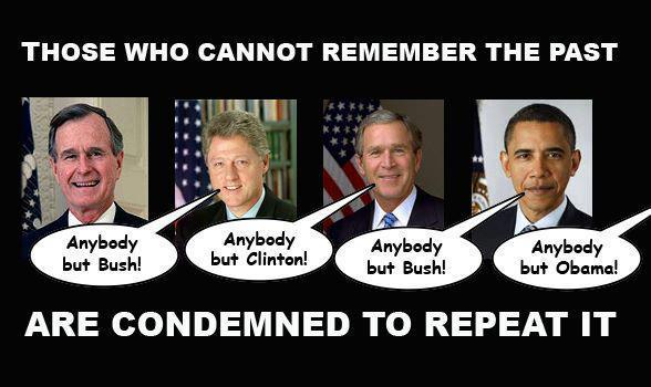 Those who cannot remember the past are condmned to repeat it