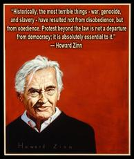 Howard Zinn war, genocide, and slavery have resulted from obedience