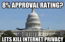8 percent approval rating