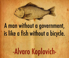 Alvaro Koplovich a man without government is like a fish without a bicycle