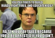 you pay taxes to build roads