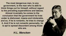 HL Mencken The most dangerous man