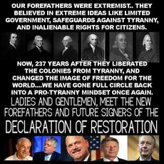 OUr forefathers were extrmist