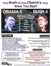 When bush did what Obama's doing were you mad?
