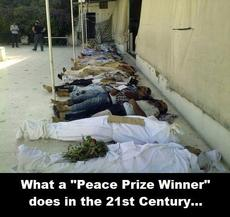 What a peace prize winner does in the 21st century